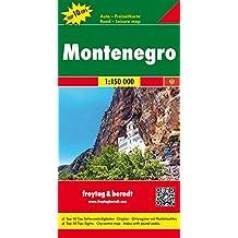 Montenegro, Autokarte 1:150.000, Top 10 Tips, freytag & berndt Auto + Freizeitkarten