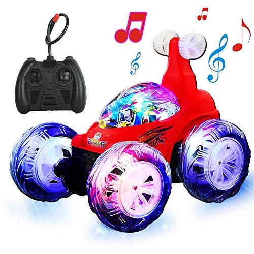 CHwares RC Stunt Auto 360° RC Rennauto mit Fernbedienung und LED-Licht Wiederaufladbar Stunt Car Ferngesteuert Spielzeugauto für für Kinder Jungen Mädchen
