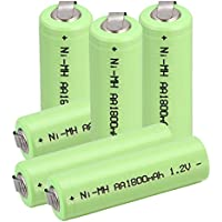 Anmas box batteria AA Ni-MH 1800mAh 1.2V batterie ricaricabili per