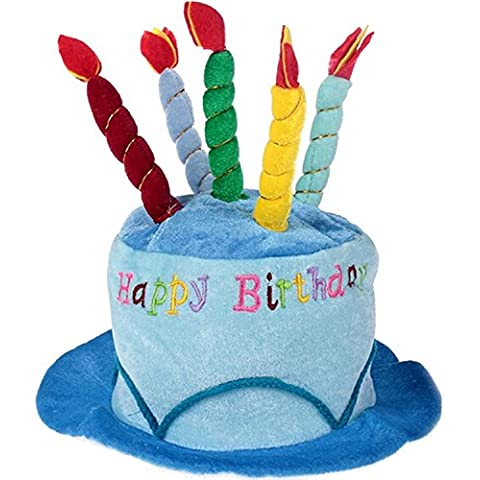BEETEST Adultos cumpleaños torta vela estilo suave cumpleaños sombrero fiesta fotografía vestuario accesorios artículos de decoración Azul