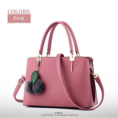 HUAYUN , Damen Rucksackhandtasche Rose