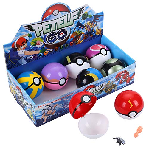 Colfeel Pokemon Spielzeug, 8 Stück Pokémon Ball, 16 Stück Pokemon Action Figuren, Pokemon Parteien für Erwachsene und Kinder