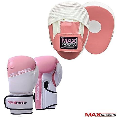Curved Focus Pad Pink 8oz Plan Boxing