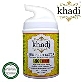 #6: Khadi Global Sun Protect 3X Fairness SPF 50+ UVB & PA+++ UVA Sunscreen Lotion Infused With Pure Silver Dust & Pure Arabian Oudh Essential Oil For Broad Spectrum UVA/UVB Sun Protection | Protect From Harmful Effects Of City Pollution | With Anti Ageing & Anti Blemish Properties |Gives Flawless Younger, Fairer & Brighter Look 50gm.