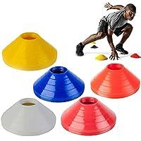 Fuhaoo conos marcadores, Set de 50, incluye soporte, Amarillo, Rojo, Blanco, Azul