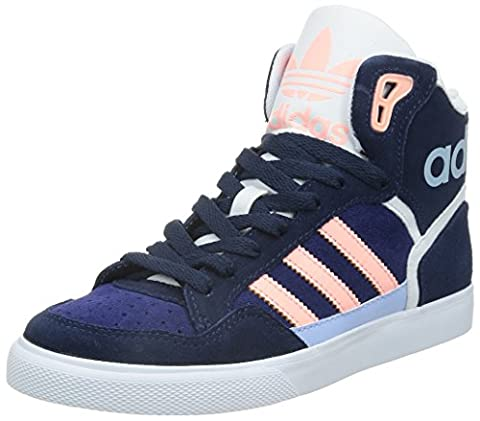 adidas Originals Extaball, Damen Hohe Sneakers, Blau (Night Indigo/Light Flash Orange S15/Midnight Indigo F15), 36 2/3
