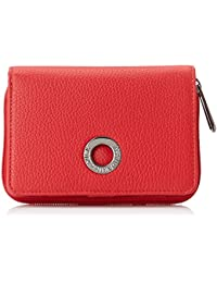 Mandarina Duck Mellow Leather, Cartera. para Mujer, Rojo (Flame Scarlet), 3x10x14 Centimeters (W x H x L)