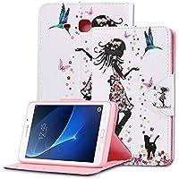 MSK Funda Samsung Galaxy Tab A 7.0 - Función de Soporte Protectora Plegable Smart Cover Durable Para Samsung Galaxy Tab A 7.0 (T280 T285) Tableta - Hada de la flor