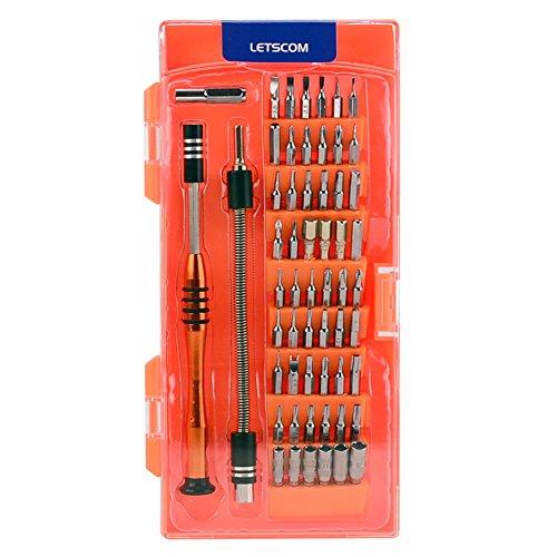 Letscom Mehrzweck-Präzisions-Schraubendreher-Set, austauschbare magnetische Treiber-Kits, Elektronik-Reparatur-Set für Handy, Tablet, Spielkonsole