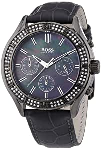 hugo boss damen armbanduhr chronograph quarz leder 1502342. Black Bedroom Furniture Sets. Home Design Ideas