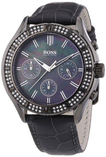 Hugo Boss 1502342 - Reloj cronógrafo de cuarzo para mujer con correa de piel, color gris