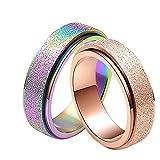 Coniea 6MM Diamantring für Herren Hochzeitsband Jubiläum Verlobungsversprechen Trauringe Männer Herrenringe Farbig Größe 52 (16.6)