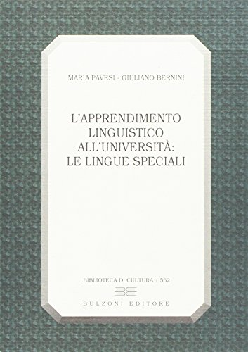 L'apprendimento linguistico all'universit: le lingue speciali