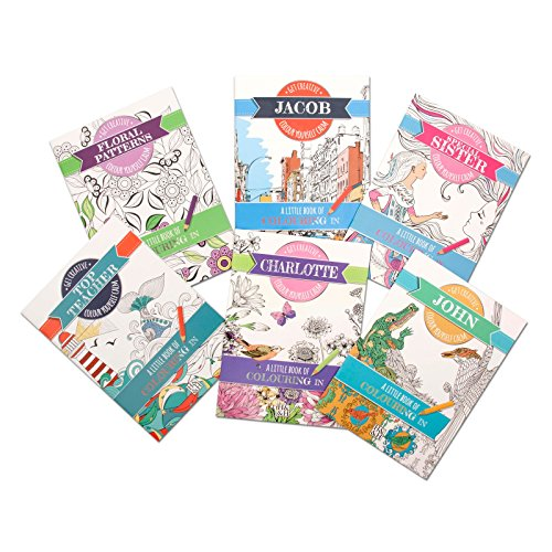 Personalised Colouring Book Girls/Ladies Names Colour Therapy Books Travel size (Wendy)