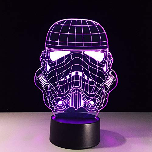 Night Light 3d Star Wars Storm Knight Trooper White Soldier Table Lamp Usb Led Party Decor Sleep Lighting Lampara Kids Toys Gift