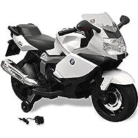 vidaXL Moto eléctrica de juguete color blanca, modelo BMW 283 6 V juego niño infantil