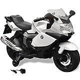 vidaXL Moto électrique en Plastique BMW 283 Blanc 6 V pour Enfant Filles garçons