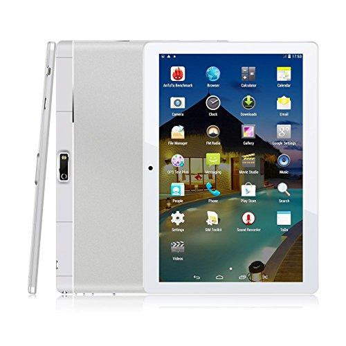 9.6 Zoll 3G Tablet PC,Metall Schale,1G RAM +16G ROM,Dual-SIM,IPS HD Display 1280x800,Quad Core CPU,Android 4.4,WIFI WLAN Bluetooth,3 Farben zur Wahl Silber von QIMAOO