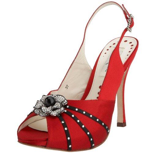 Siena Xzane Verona, Escarpins femme Rouge / Noir