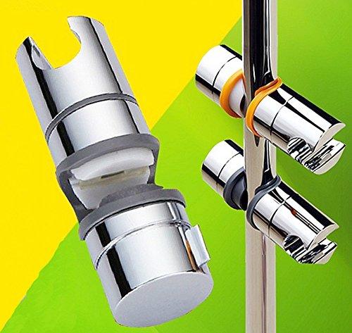 Preisvergleich Produktbild Duschkopf Schieber Gleiter Halter Stangengleiter für Duschstange 20-25 mm Chrom