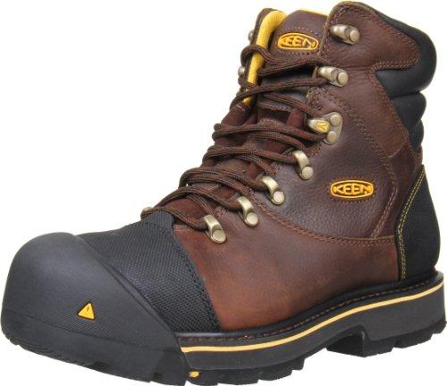 Keen Utility Men's Milwaukee 6-Inch Steel Toe Work Boot,Slate Black,9.5 EE US