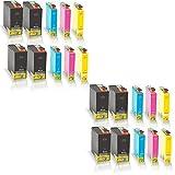 20x kompatible Tintenpatronen für Epson Workforce 525 Workforce 630 Workforce WF3010 DW WF3520 DWF WF3530 DTWF WF3540 DTWF Black Cyan Magenta Yellow Sparset C13 T1301 C13 T1302 C13 T1303 C13 T1304 - Color Office Serie
