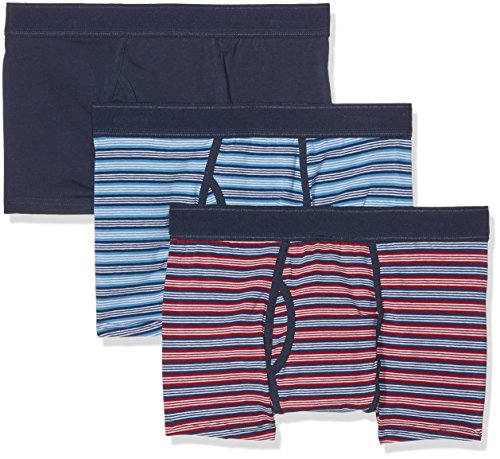 Burton Menswear London Herren Badehose Block Stripe Trunk blau (marineblau)