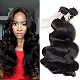 Body Wave 4 paquetes de armadura de cabello humano 100% virgen sin procesar paquetes de cabello de Brasileño extensiones de pelo natural negro (10 12 14 16)