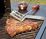 J-Creater BBQ Branding Iron & Changeable Iron Letters Barbecue Grills Names Tool Steak Outdoor