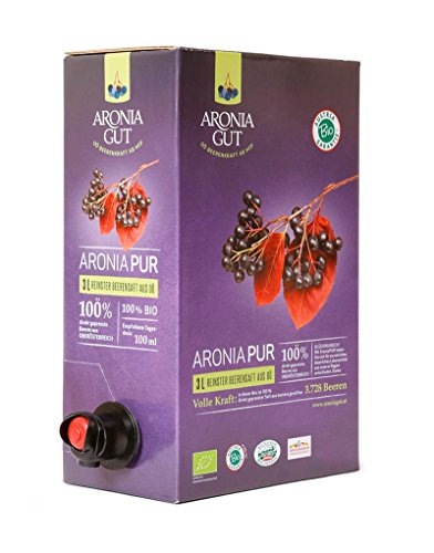 AroniaPUR 100% Aronia Bio Direktsaft - Muttersaft 3L Box AT-BIO-301