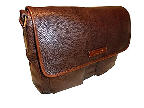 The Bridge Plume Mix Uomo Borsa a tracolla Messenger pelle 37 cm braun, braun