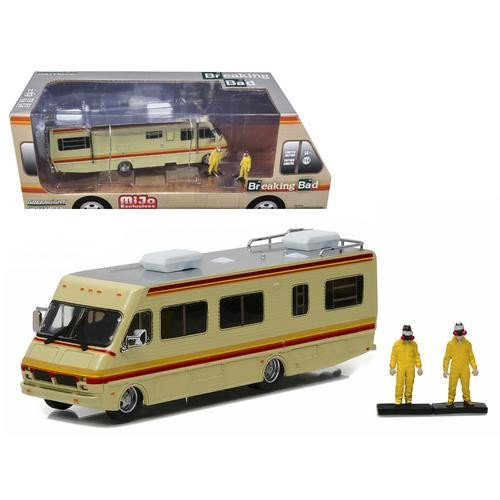 Preisvergleich Produktbild BREAKING BAD Camper Miniatur DieCast MODEL + 2 FIGUREN Walter und Jesse 1/64 Greenlight