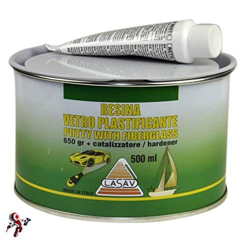 Stucco in pasta per vetroresina con catalizzatore 500 ml Vetroresina in pasta ideale per carrozzeria