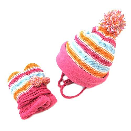 Snowline Baby Set, Mütze und Handschuhe, 4404, pink, One Size