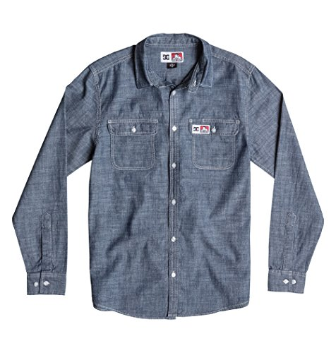 DC Cham Bray Indigo - Maglietta a maniche lunghe blu S