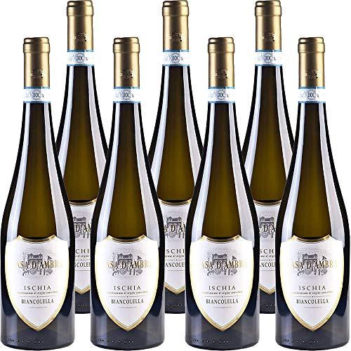 Ischia Biancolella DOC   Casa d'Ambra   Vino Bianco dell'isola d'Ischia   Confezione da 6 bottiglie da 75 cl   Idea Regalo
