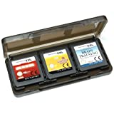 Assecure Black 6 Game card holder for Nintendo 3DS, DS, DS lite, DSi & DSi XL storage box 6 in 1