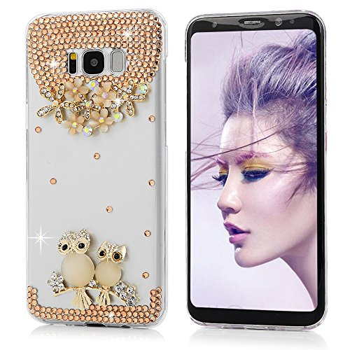 S8 Plus Fall, Samsung Galaxy S8 Plus Hülle 3D Handgefertigt Bling Colorful Diamonds mit glänzend Sparkle Gems Strass Kristall Klar Full Body Schutz Hard PC Case Cover von Mavis 's Diary, Opal (Herren Kostüme 2017 Diy)