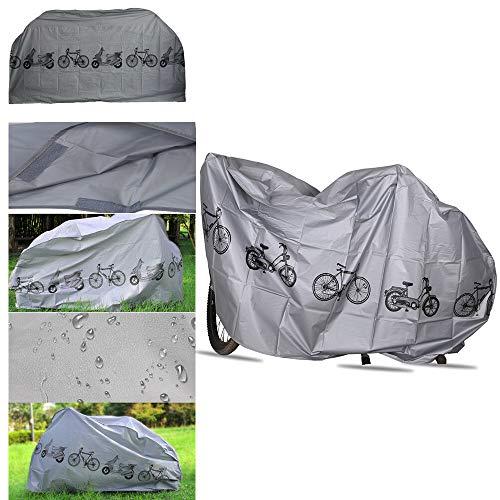 YETE Hochwertige Fahrradabdeckung mit PU-Beschichtung, strapazierfähigem Ripstop-Material, wasserdicht und UV-beständig - Schutz vor Allen Wetterbedingungen für Mountainbikes und Rennräder -