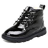 zhenghewyh Unisex-Kinder Boots Stiefel Winter Schneestiefel Warme Stiefeletten für Baby Mädchen (EU 33, Schwarz)