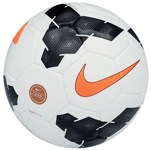 Nike Club Team Palla, Bianco / Nero / Arancione, 5