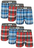6 oder 4 Web Boxershorts 100% Baumwolle lockere US Style Webboxer kariert in vielen Mustern, Herren Boys Short Jungen Boxer Gewebte Boxer Größen: S M L XL 2XL 3XL 4XL, Muster 06, S-4