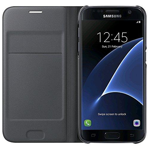 Samsung Flip Wallet - Funda oficial para Samsung Galaxy S7, color negro