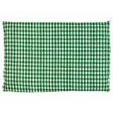 Leinsamenkissen 30x20cm grün-weiß | Als Wärmekissen & Kältekissen | Körnerkissen