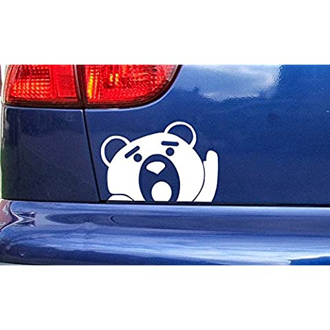 Ted peeping Funny Vinyl Sticker Decal Small to Large Sizes Silver 150mm x (1037 Vinyl)