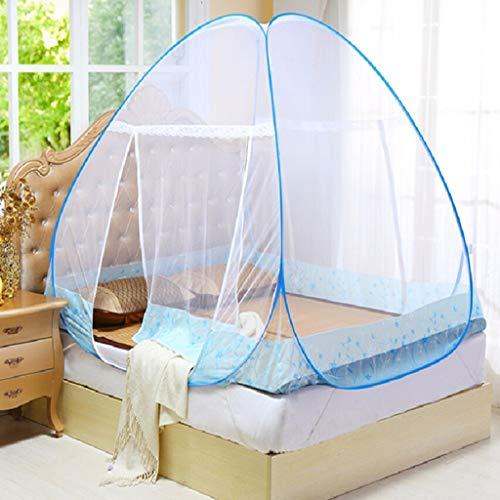 Moskitonetz Bett Baldachin Pop-up-faltbare Doppeltür Einfache Einrichtung Mit Boden Gegen Mückenstiche Für Bett Camping Reisen Home Outdoor Blau-b 180 * 200 * 170cm (Blau-schlafzimmer-hängematten)