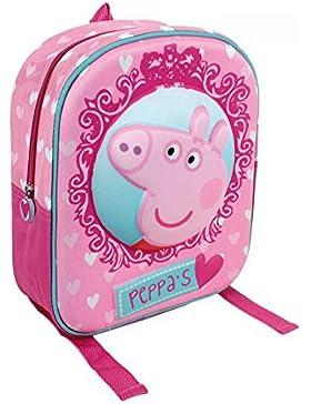 Peppa Pig zaino con volto PEPPA in 3D