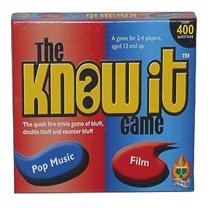 Pants on Fire - Juego de Mesa sobre música y películas The Know It Game Importado de Reino Unido