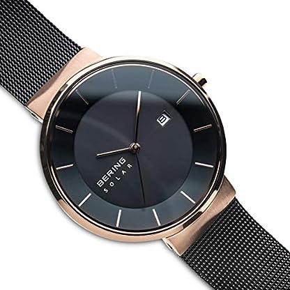 BERING Reloj Analógico para Hombre de Energía Solar con Correa en Acero Inoxidable 14639-166
