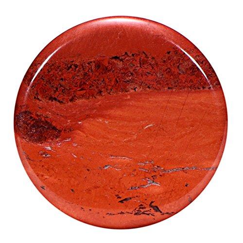 Morella Damen SMALL Coin 23 mm Edelstein roter Jaspis Chakren Scheibe Halsketten Anhänger und zur Stärkung